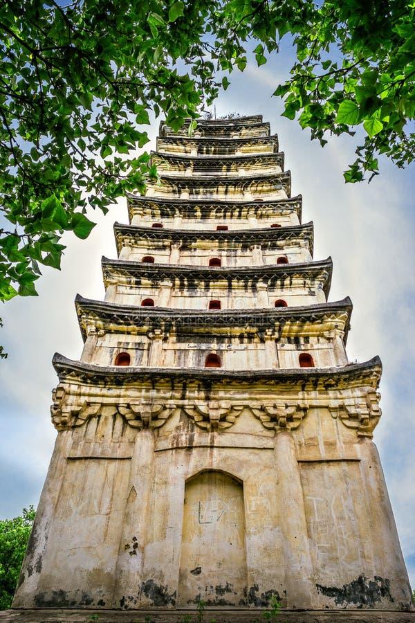 La pagoda blanche du pays de Rongxian photos libres de droits