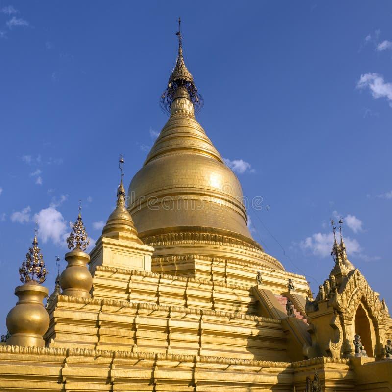 Pagoda de Kuthodaw - Mandalay - Myanmar imagen de archivo libre de regalías