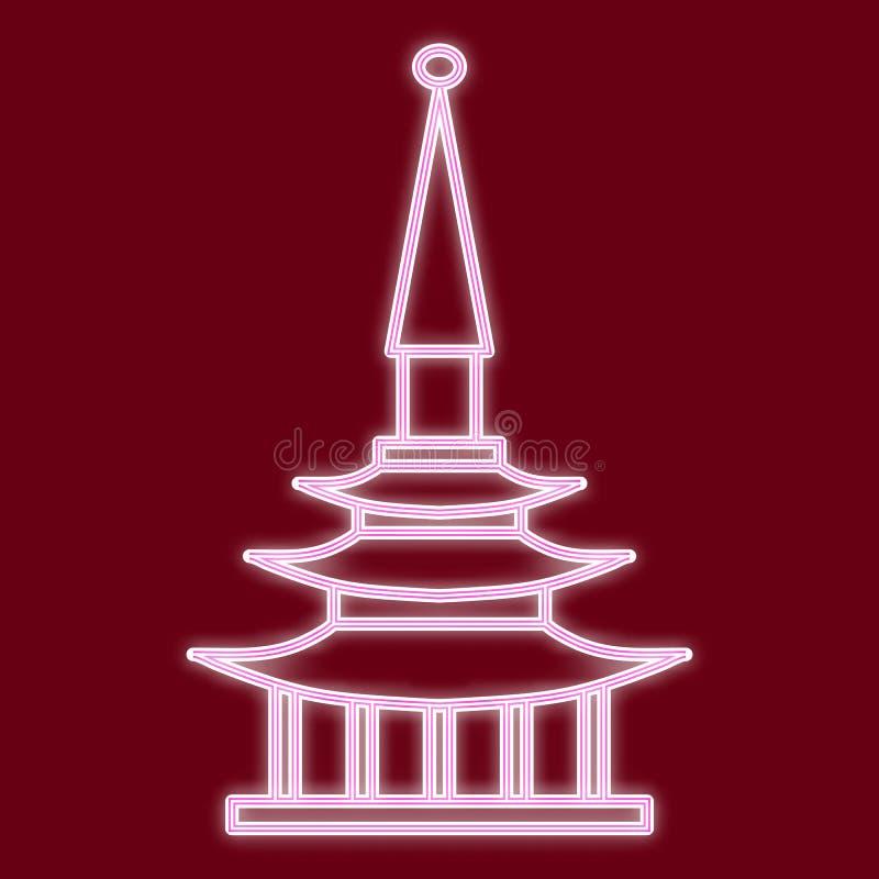 La pagoda china stock de ilustración