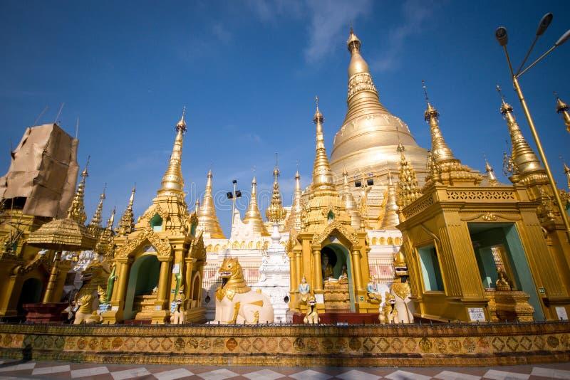 La pagoda de Shwedagon, Rangún, Myanmar fotos de archivo