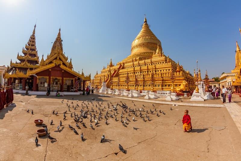 La pagoda de Shwezigon imagenes de archivo