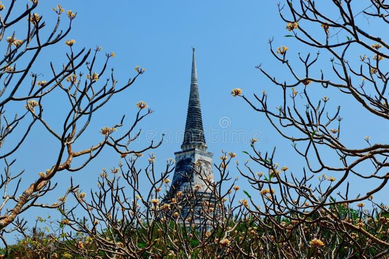 La pagoda del templo en la alta cumbre imagen de archivo libre de regalías