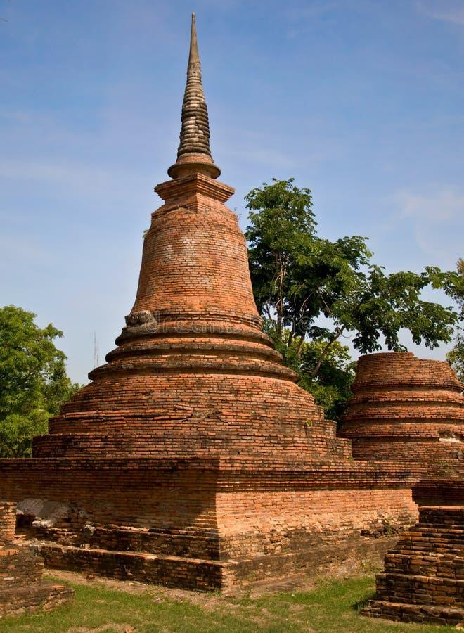 La pagoda du stationnement historique de sukothai images libres de droits