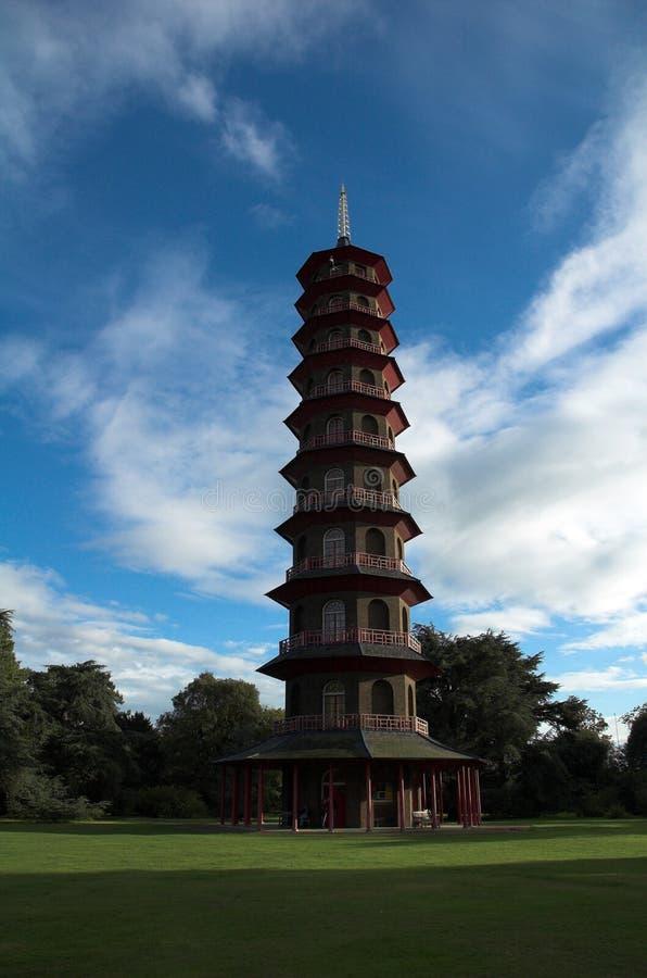 La pagoda en kew cultiva un huerto, Londres, Reino Unido. fotografía de archivo