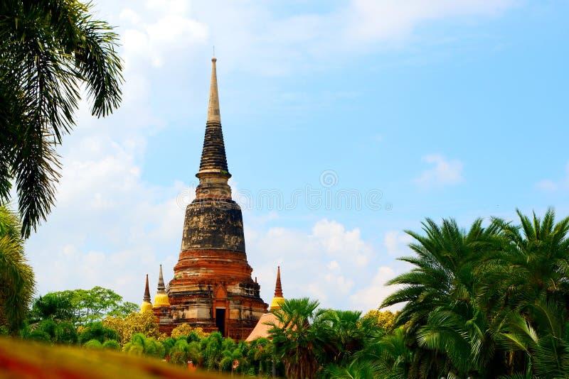 La pagoda grande en el templo fotografía de archivo