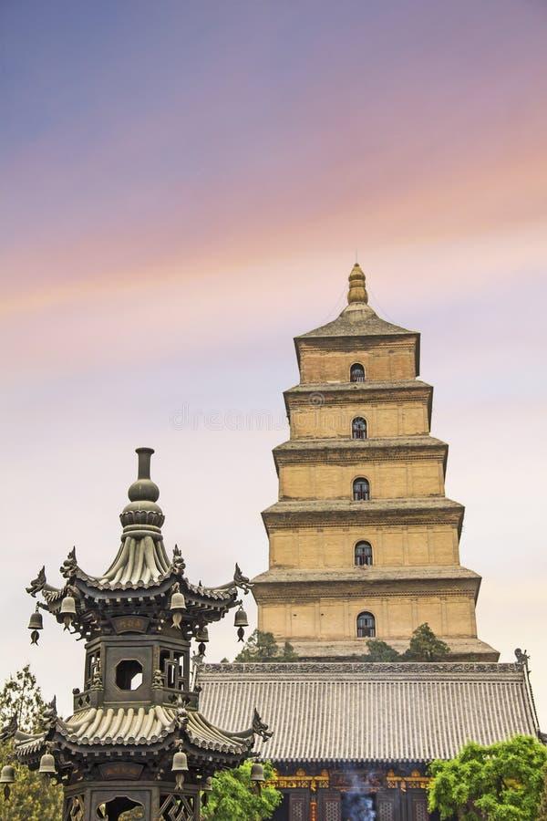 La pagoda sauvage géante célèbre d'oie photo libre de droits