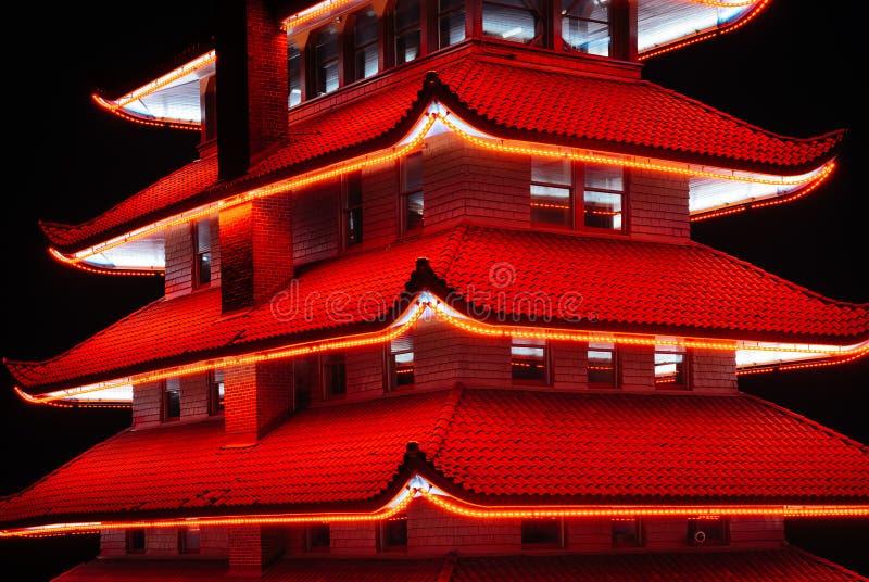 La pagoda sur la commande d'horizon la nuit, dans la lecture, la Pennsylvanie photo stock