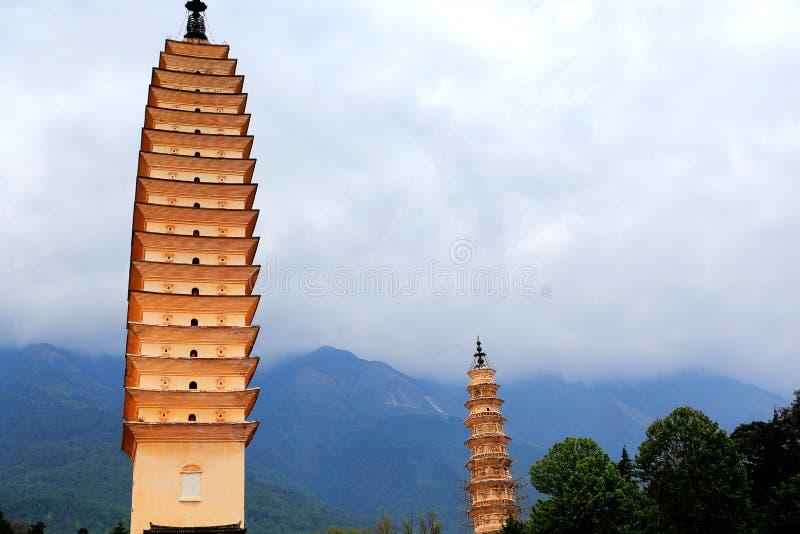 La pagoda tres de Chong Sheng Temple fotos de archivo