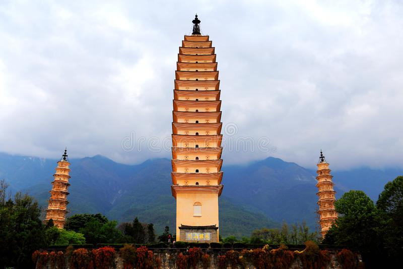 La pagoda tres de Chong Sheng Temple foto de archivo libre de regalías