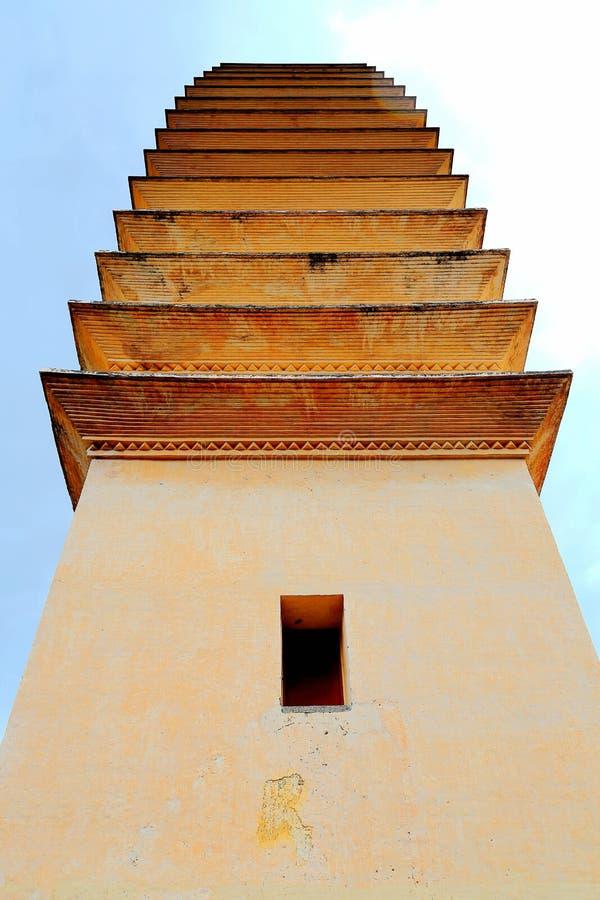La pagoda tres de Chong Sheng Temple foto de archivo
