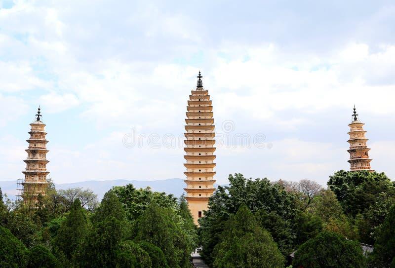 La pagoda tres de Chong Sheng Temple fotografía de archivo libre de regalías