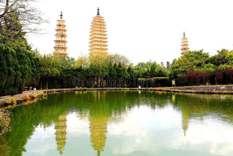 La pagoda tres de Chong Sheng Temple imagen de archivo