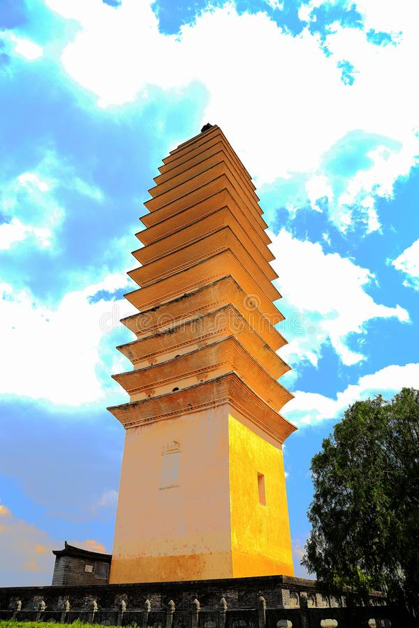 La pagoda tres de Chong Sheng Temple imágenes de archivo libres de regalías