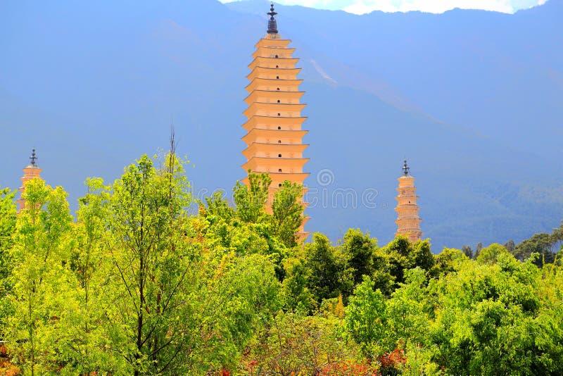 La pagoda tres de Chong Sheng Temple fotos de archivo libres de regalías