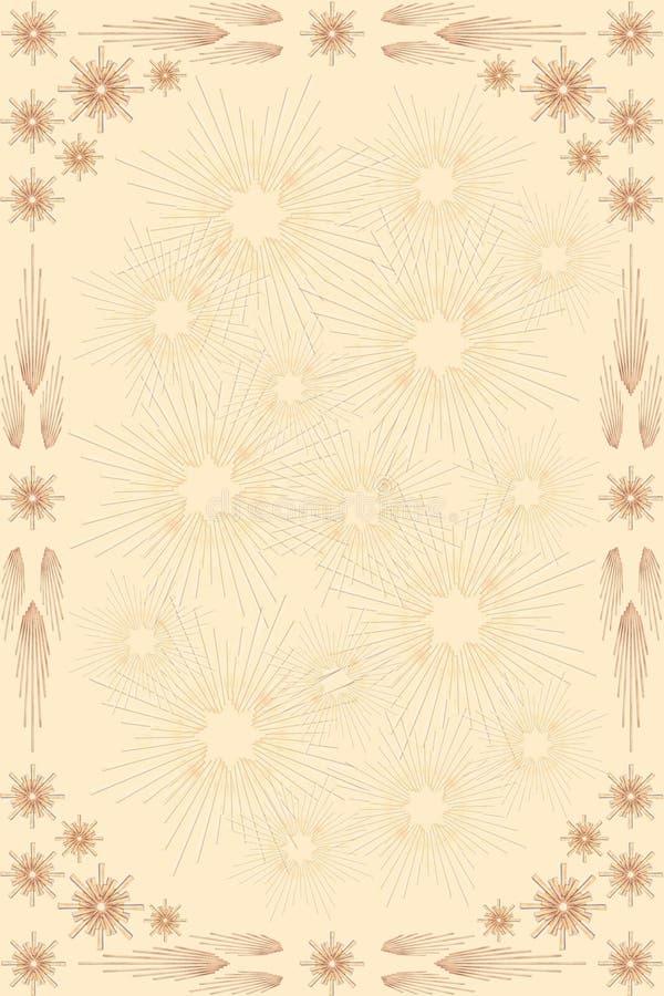 La paille Stars le fond illustration de vecteur