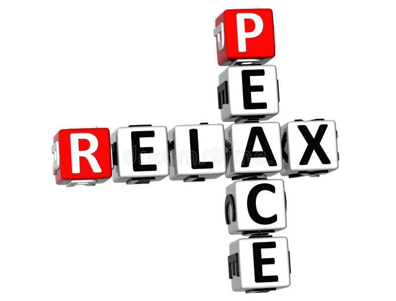 la paix 3D détendent des mots croisé illustration de vecteur