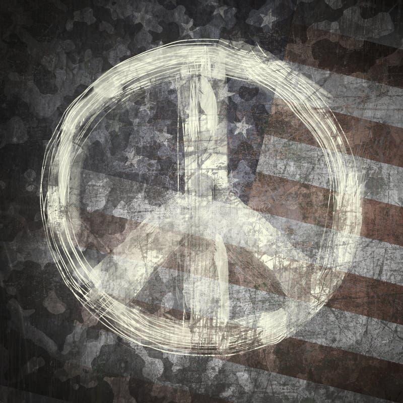 La paix se connectent le fond militaire illustration de vecteur