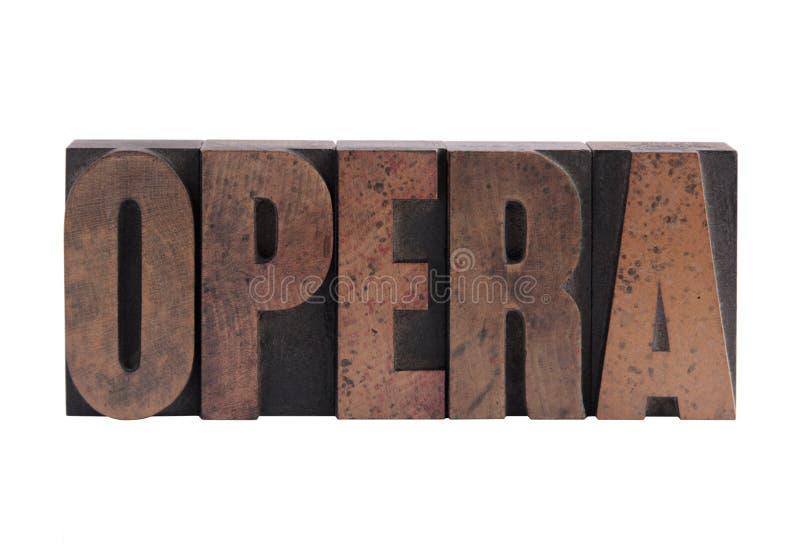 La palabra ?ópera? foto de archivo libre de regalías