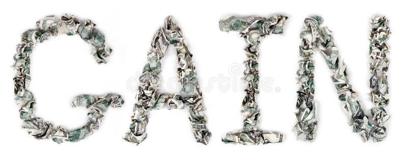 Aumento - Cuentas Prensadas 100$ Fotos de archivo libres de regalías