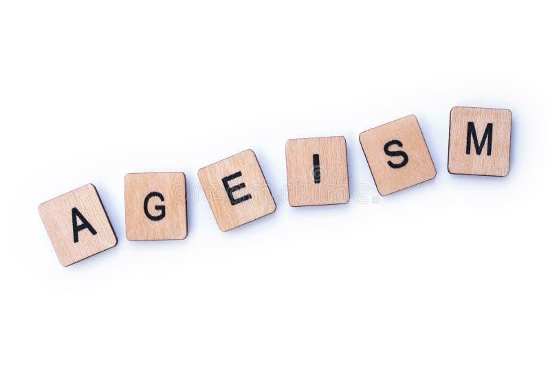 La palabra AGEISM fotografía de archivo libre de regalías