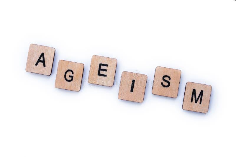 La palabra AGEISM foto de archivo libre de regalías