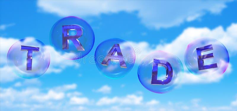 La palabra comercial en burbuja stock de ilustración