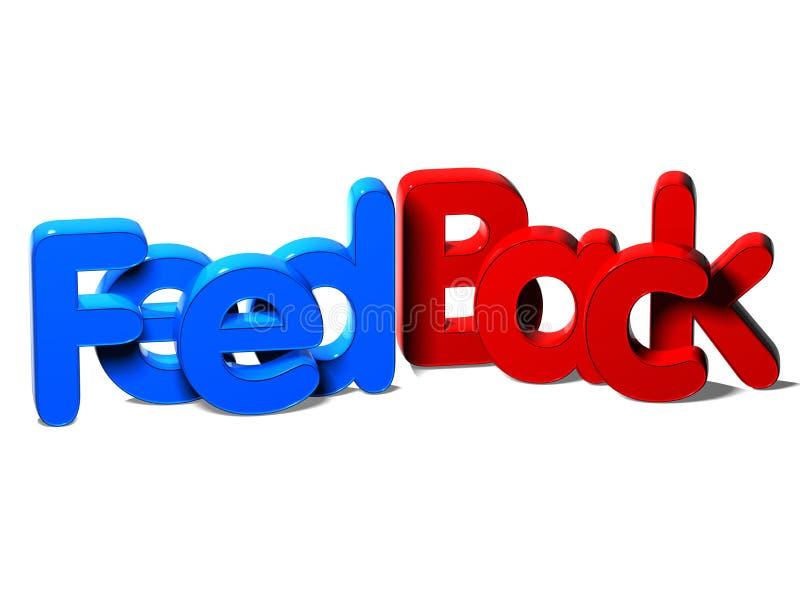 la palabra 3D retroactúa en el fondo blanco stock de ilustración