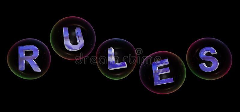 La palabra de las reglas en burbuja libre illustration
