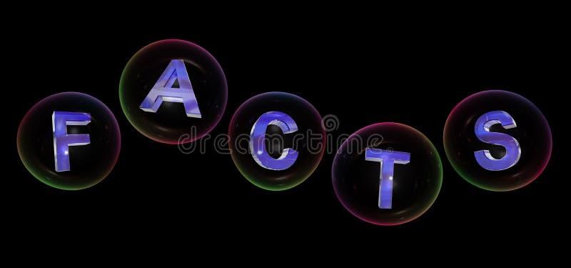 La palabra de los hechos en burbuja ilustración del vector