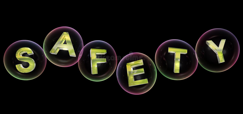 La palabra de la seguridad en burbuja ilustración del vector