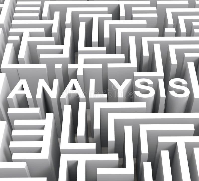 La palabra del análisis muestra la investigación o la investigación libre illustration