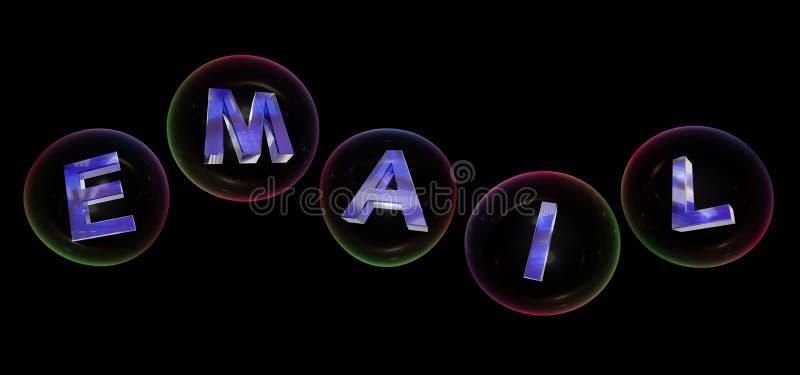 La palabra del correo electrónico en burbuja ilustración del vector