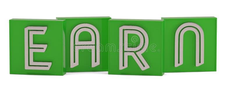 La palabra del cubo gana aislado en el ejemplo blanco del fondo 3D libre illustration