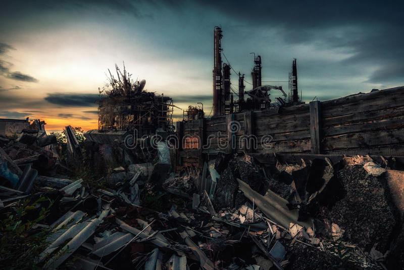 La palabra después de la guerra nuclear fotos de archivo libres de regalías