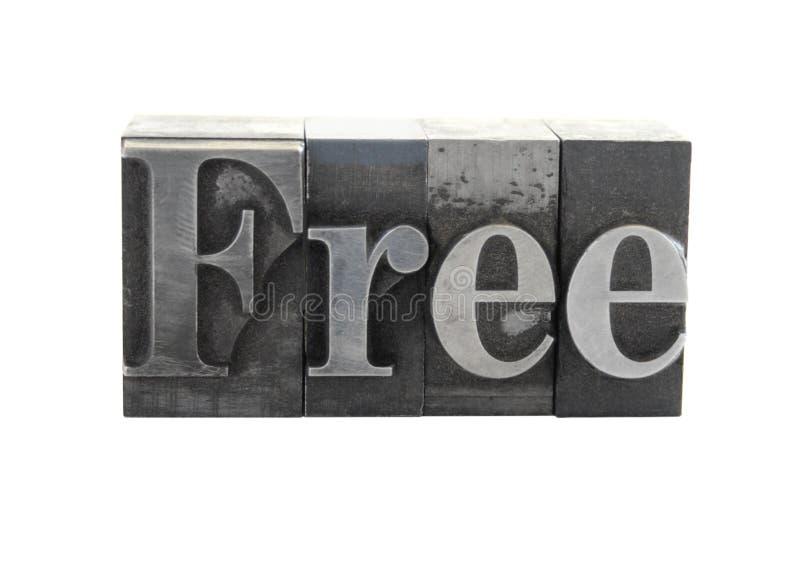 La palabra ?libre? en tipo del metal foto de archivo libre de regalías