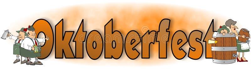 La palabra Oktoberfest con los caracteres bávaros ilustración del vector