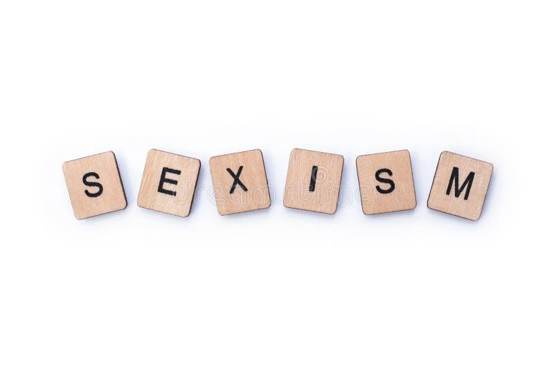 La palabra SEXISMO imagen de archivo libre de regalías