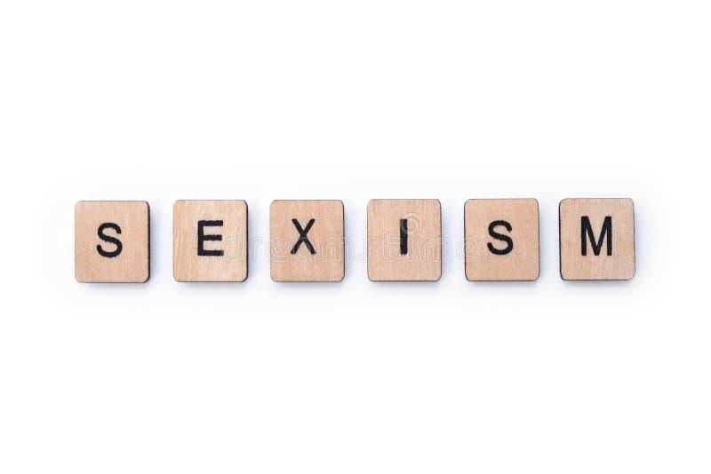 La palabra SEXISMO imágenes de archivo libres de regalías