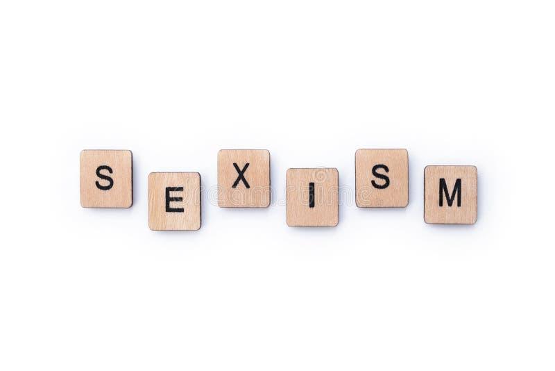 La palabra SEXISMO fotos de archivo