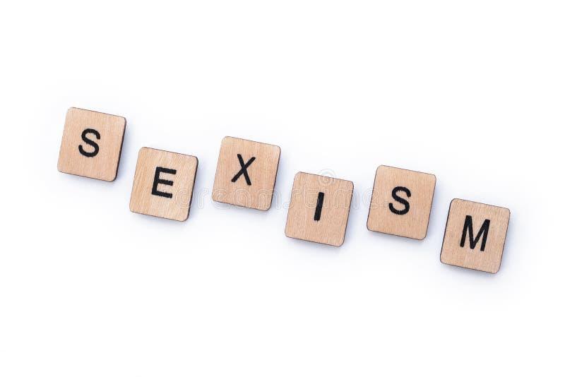 La palabra SEXISMO fotografía de archivo libre de regalías
