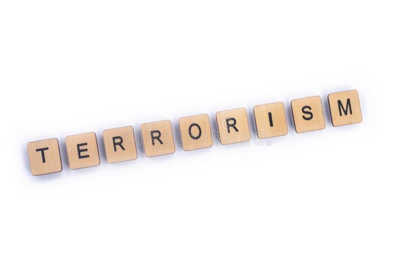 La palabra TERRORISMO imágenes de archivo libres de regalías