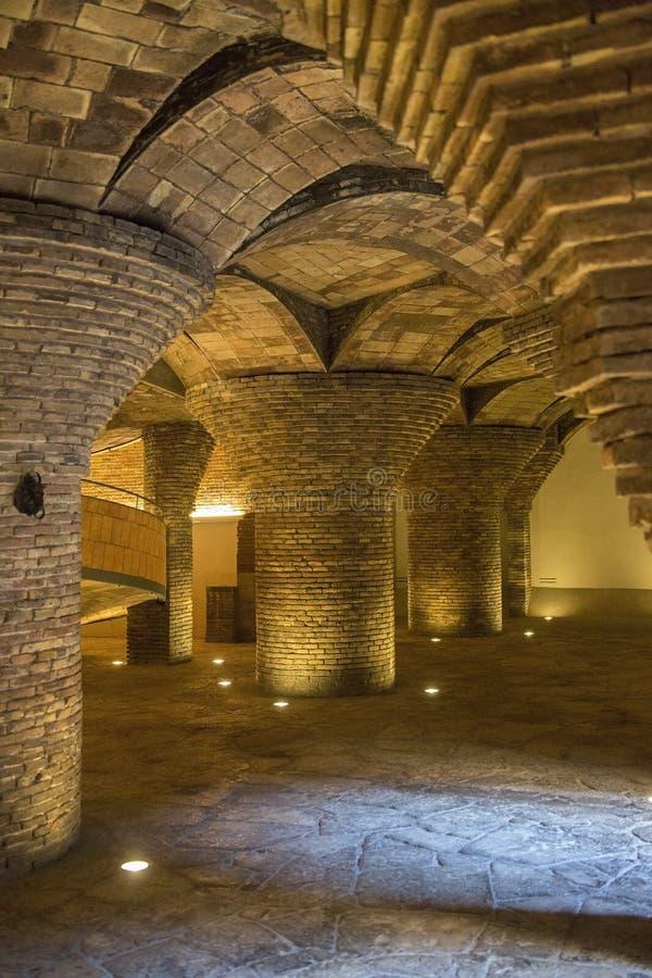 La Palau Guell - Barcelone - l'Espagne photo libre de droits