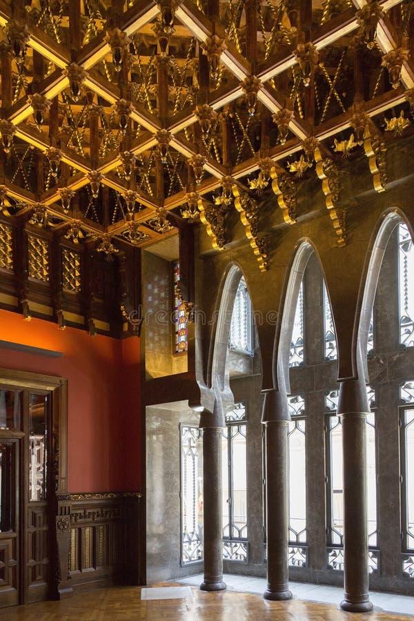 La Palau Guell - Barcelone - l'Espagne image libre de droits