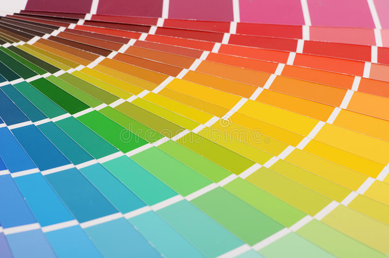 La paleta de colores como fondo imagenes de archivo