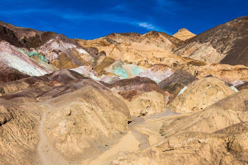 La paleta del artista en Death Valley imagen de archivo
