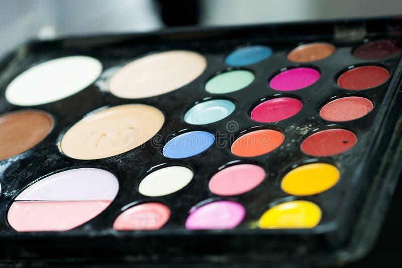La paleta del cosmético profesional para compone indoor foto de archivo libre de regalías