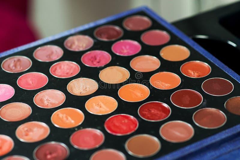 La paleta del cosmético profesional para compone indoor foto de archivo
