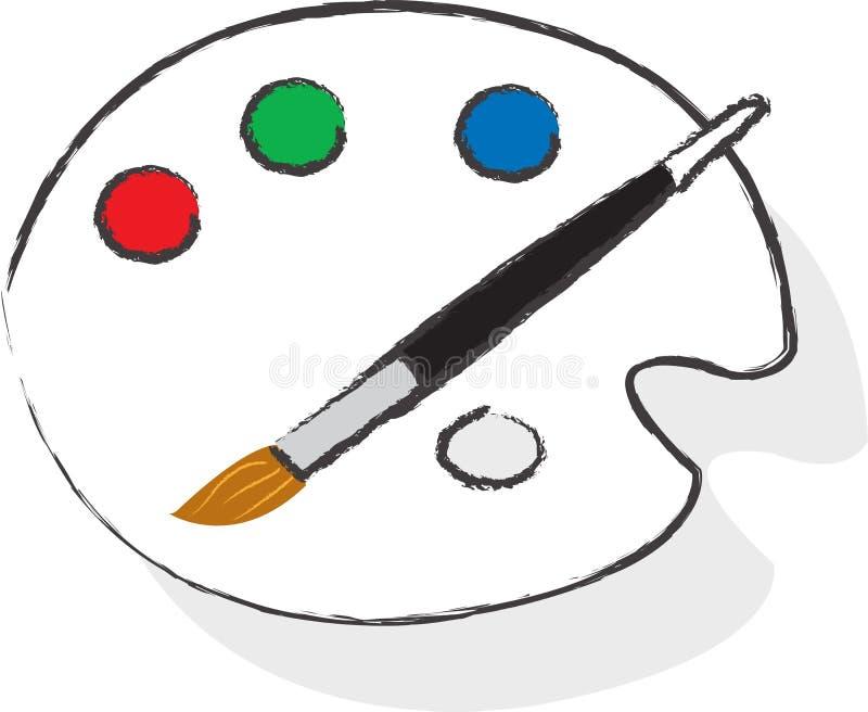 La palette de l'artiste image libre de droits