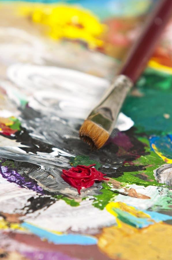 La palette de l'artiste photos libres de droits