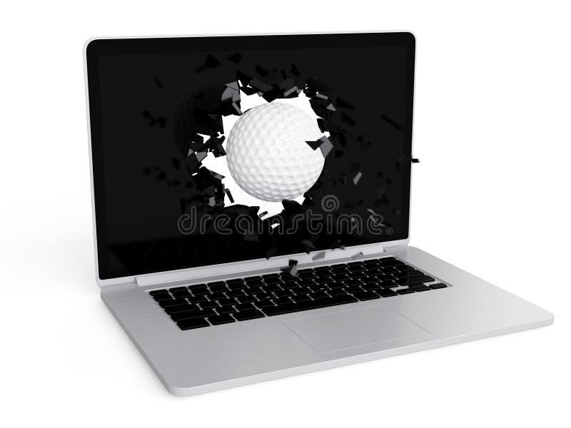 Download La Palla Da Golf Distrugge Il Computer Portatile Illustrazione di Stock - Illustrazione di concetto, distrugga: 56891985